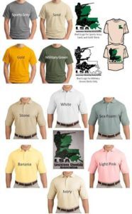 Polo shirts new t shirt colors for Honey island shooting range